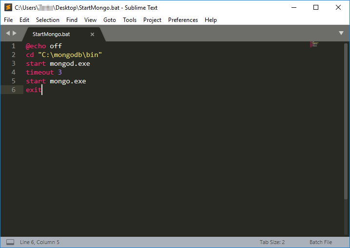 Sublime Text MongoDB configuration