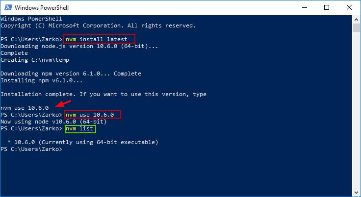 Node.js Windows Installation