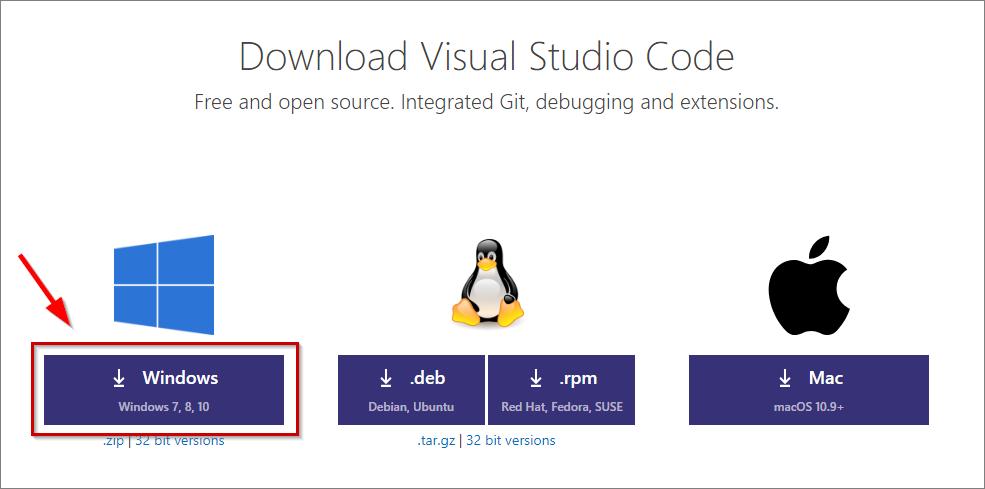 Visual Studio Code Windows Download